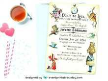 98 Free Printable Blank Alice In Wonderland Invitation Template in Word by Blank Alice In Wonderland Invitation Template