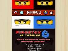 98 How To Create Ninjago Party Invitation Template for Ms Word with Ninjago Party Invitation Template