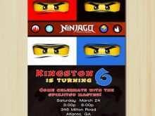 98 How To Create Ninjago Party Invitation Template for Ms Word with Ninjago Party Invitation Template