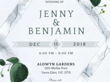 98 The Best Wedding Invitation Template Eucalyptus Photo by Wedding Invitation Template Eucalyptus