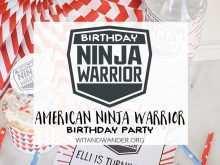 99 Blank Ninja Warrior Birthday Invitation Template Free in Word with Ninja Warrior Birthday Invitation Template Free