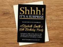 Birthday Invitation Template Black And Gold