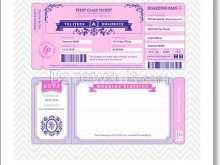 99 Creating Boarding Pass Wedding Invitation Template in Word for Boarding Pass Wedding Invitation Template
