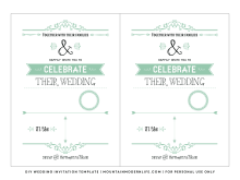 99 Customize Our Free Mint Green Wedding Invitation Template Photo by Mint Green Wedding Invitation Template