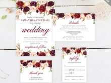 99 Customize Our Free Wedding Invitation Template Burgundy Now by Wedding Invitation Template Burgundy