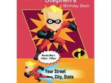 99 Free Incredibles Birthday Invitation Template Photo with Incredibles Birthday Invitation Template