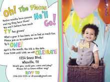 99 Free Oh The Places You Ll Go Birthday Invitation Template Free in Word with Oh The Places You Ll Go Birthday Invitation Template Free