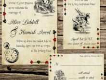 99 Free Printable Alice In Wonderland Wedding Invitation Template PSD File with Alice In Wonderland Wedding Invitation Template