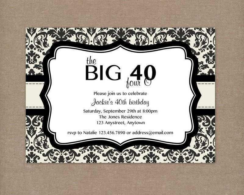 99 How To Create 40 Year Birthday Invitation Template Download for 40 Year Birthday Invitation Template