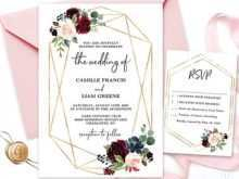 99 How To Create Floral Wedding Invitation Template for Ms Word with Floral Wedding Invitation Template