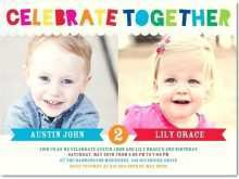 99 How To Create Joint Birthday Party Invitation Template Maker with Joint Birthday Party Invitation Template