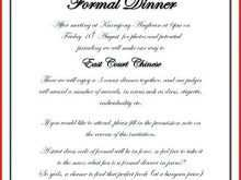 99 Online Free Formal Dinner Party Invitation Template in Photoshop for Free Formal Dinner Party Invitation Template