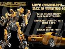 99 Printable Transformers Birthday Invitation Template PSD File by Transformers Birthday Invitation Template