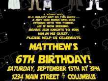 99 Standard Star Wars Birthday Invitation Template Maker for Star Wars Birthday Invitation Template