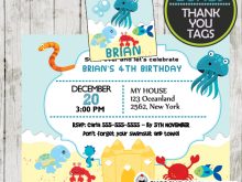 99 The Best Under The Sea Birthday Invitation Template Free With Stunning Design by Under The Sea Birthday Invitation Template Free
