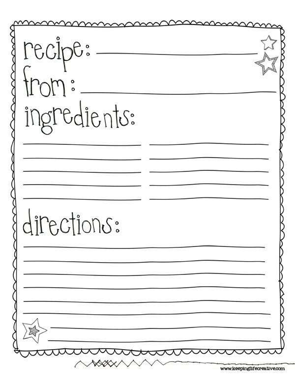 12 Free Printable Preschool Cookie Recipe Card Template For Free for Preschool Cookie Recipe Card Template
