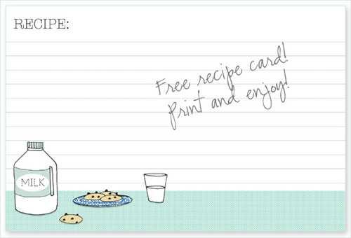 18 Best Preschool Cookie Recipe Card Template For Free by Preschool Cookie Recipe Card Template